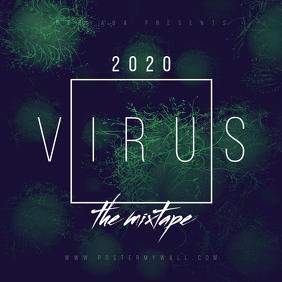 Virus 2020 Abstract Mixtape Cover Template ปกอัลบั้ม