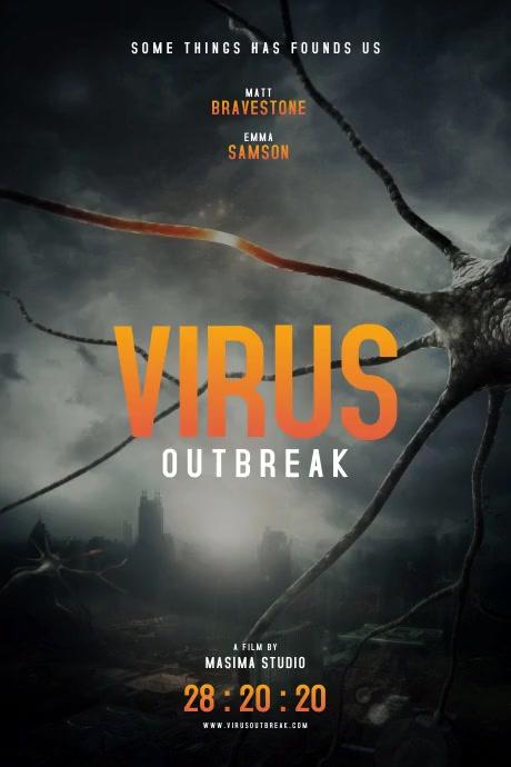 Virus Apocalyptic Movie Poster template