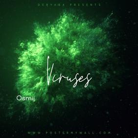 Virus Green Powder Music Mixtape CD Cover ปกอัลบั้ม template