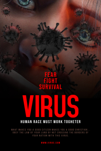 Virus Theme Poster Template