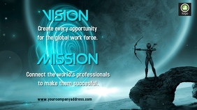 vision and mission Digital Display (16:9) template