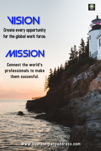 vision and mission poster Плакат template