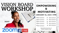 Vision Board Workshop Visitkort template