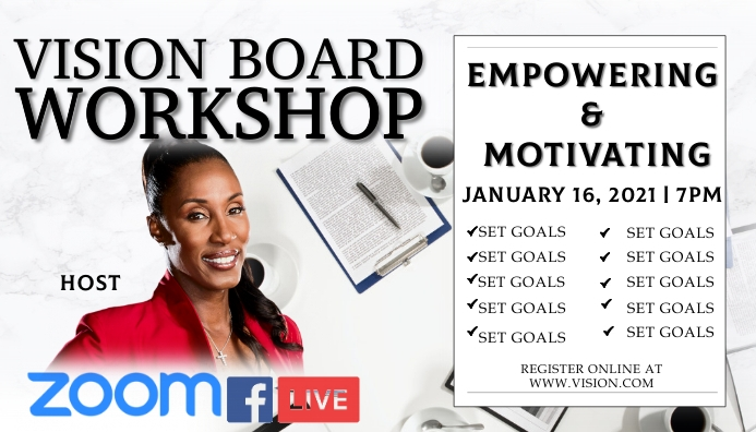Vision Board Workshop Business Card template