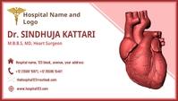 Visiting card for Doctor Tarjeta de Presentación template