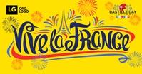Viva La France Bastille Template Facebook Shared Image