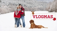Vlogmas YouTube Thumbnail template