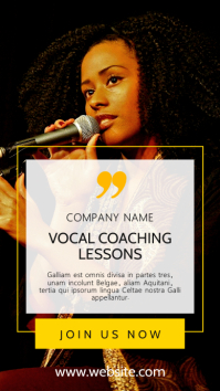 vocal coaching lessons advertisement minimal Instagram Story template
