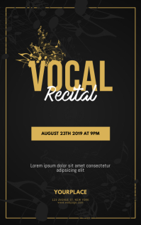 Vocal Recital Flyer Template Sampul Buku