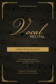 vocal recital flyer template