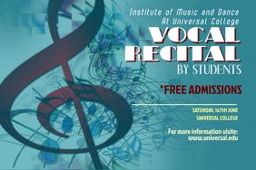 Vocal Recital Poster Template