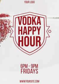 Vodka Happy Hour flyer