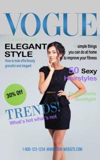 Vogue Elegant Style Magazine Cover