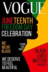 Vogue Juneteenth Freedom Template Poster