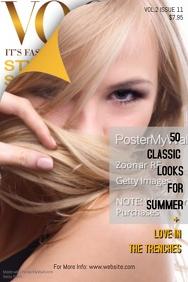 Vogue Magazine Cover Template
