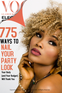 Vogue Nail Your Party Look Magazine Cover