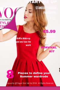 Vogue Start Me Up Fashion Magazine Cover