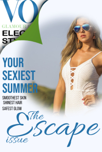 Vogue Your Sexiest Summer Ever Magazine Cover Poster template