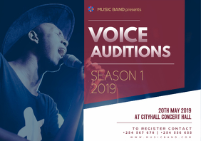 Voice Auditions Poster