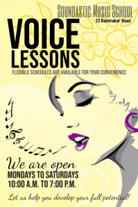voice lessons template