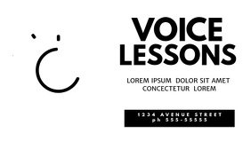Voice lessons video facebook cover Facebook-omslagvideo (16:9) template