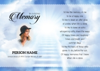 Voice of Heaven Funeral Card Postcard template