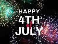 volante de fuegos artificiales del 4 de julio Flyer (US Letter) template