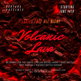 Volcanic Lava Instagram Party Banner Template