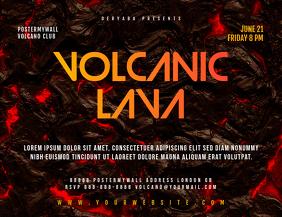 Volcanic Lava Landscape Flyer Template