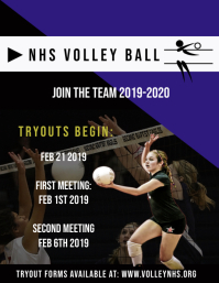 Volley ball tryouts