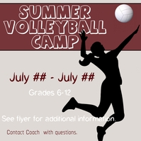 Volleyball Camp โพสต์บน Instagram template
