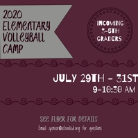 Volleyball Camp Pos Instagram template
