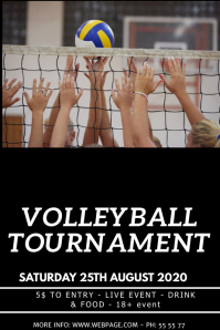 Volleyball event flyer template