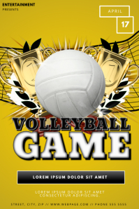 Volleyball Flyer Template Poster