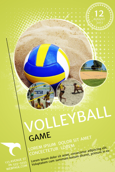 volleyball game flyer template postermywall
