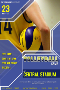 volleyball game poster flyer template