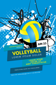 Volleyball Game Flyer Template Plakat