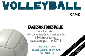 Volleyball Game Flyer - Customizable