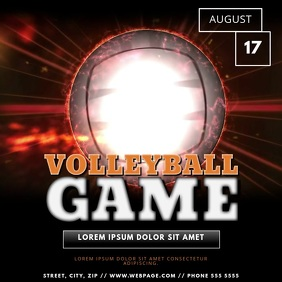 Volleyball Game Match Video Template for Instagram