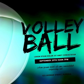 Volleyball Game Video Design Template Square (1:1)