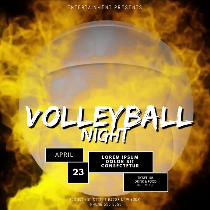 Volleyball Game Video Design Template