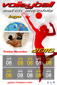 Volleyball Match Schedule Poster