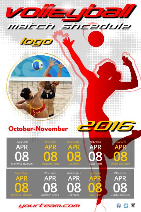 Volleyball Match Schedule Poster