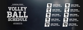 Volleyball Monthly Schedule Video Template Facebook Cover Photo