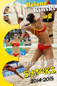Volleyball Player Poster
