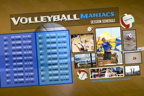 Volleyball Sports Team Schedule Template