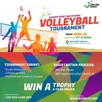 Volleyball Tournament Ad Instagram-bericht template