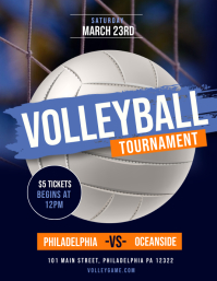 Volleyball Tournament Flyer (US Letter) template