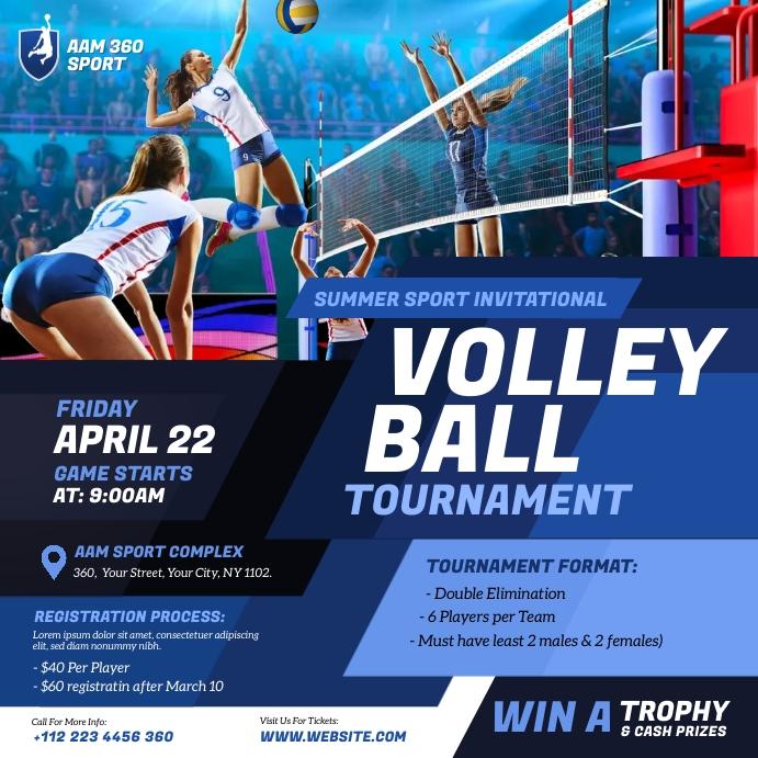 Volleyball Tournament Instagram-opslag template