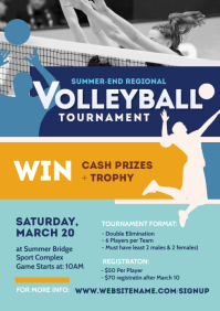 Volleyball Tournament Flyer A4 template